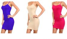 Buy NEW SEXY SEAMLESS DRESS SLIP CAMISOLE MINI DRESS Extra LONG tunic TANK TOP S,M,L
