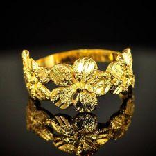 Buy 24k Ring Wedding Engagement Flowers Thai Baht Yellow Gold GP Size 7 Jewelry #11