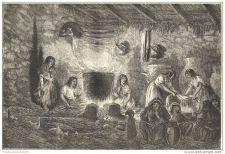 Buy PERU - THE URBAN CABARET - engraving from 1862