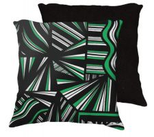 Buy Zambito 18x18 Green White Black Back Cushion Case Throw Pillow Cover 631 Art
