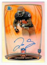 Buy NFL 2014 Bowman Chrome Refractor Jerome Smith AUTO RC MNT
