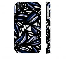Buy Memos Blue White Black Iphone 4/4S Apple Phone Case Flowers Botanical