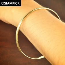 Buy 22k 24k Stack Thai Baht Yellow Gold Plated GP Love Bangle Bracelet Jewelry B040