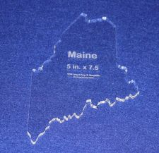 """Buy State of Maine 5"""" x 7.5"""" ~ 1/4"""" Quilt Template- Acrylic - Long Arm/ Sew"""