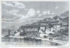 Buy CHINA - QUAY OF YUN-YANG-FOU TOWN - engraving from 1875