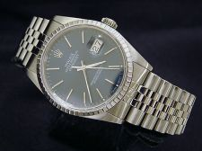 Buy MENS SS STAINLESS STEEL ROLEX DATEJUST DATE WATCH BLUE