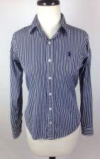 Buy Ralph Lauren Shirt S Womens Blue Cotton Long Sleeve