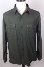 Buy Theory Shirt Mens XLT Green Cotton Long Sleeve