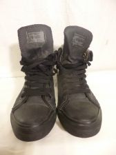 Buy Levi's Mens Hi Tops Roll Down HighTop Sneakers Zippers Shoes 9 Black