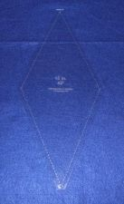 """Buy Quilt Template -No Tip 45 Degree Diamond -15 Inch-1/8"""" w/seam & guide holes"""