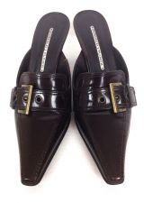Buy Donald Pliner Womens Shoes 7 Brown Leather Heels