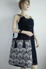 Buy ECOTE` BEAUTIFUL WOMEN'S BLACK/WHITE HANDBAG.