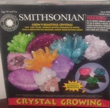 Buy complete Giant 9 CRYSTAL GROWING lab set w/6 pedestals SMITHSONIAN kit rock used