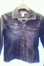 Buy EUC women's, sz. S AMI blue, long sleeve, buttoned, jeans jacket