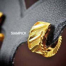 Buy Thai 22k 23k 24k Yellow Gold Baht GP Drop Huggie Earrings Dangle Jewelry E004