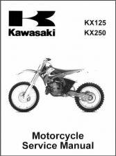 Buy 99-02 Kawasaki KX125 KX250 Service Repair Workshop Manual CD - KX 250 125