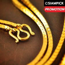 "Buy 24"" Thai Baht 22k 24k Yellow Gold Plated GP Wheat Chain Necklace Jewelry N017"