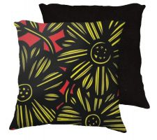 Buy Lais 18x18 Yellow Red Black Pillow Flowers Floral Botanical Cover Cushion Case Throw