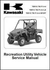 Buy 10-11 Kawasaki Teryx 750 FI 4X4 LE Sport UTV Service Repair Workshop Manual CD