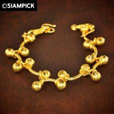 Buy 24k Beads Rope Chain Bangle Bracelet Thai Bath Yellow Gold GP Charm Jewelry 141