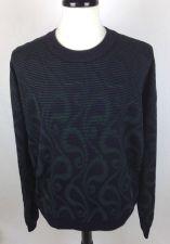 Buy Jhane Barnes Sweater XL Mens Black Wool Long Sleeve
