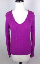 Buy Ann Taylor Sweater S Womens Pink Wool Long Sleeve