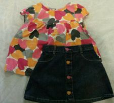 Buy Gymboree Panda Academy Skirt Short Outfit Hearts Size 3t