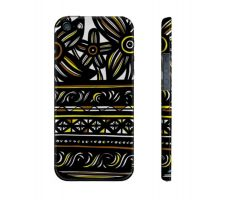Buy Laos Yellow Black Flowers Floral Botanical Iphone 5/5S Phone Case
