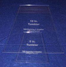 "Buy Quilt Templates-2 Piece Tumbler Set 5"" & 10"" w/Seam Allowance - 1/8"" clear"
