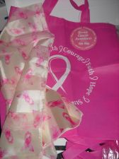 Buy Pink Ribbon Totebag Womans head neck scarf cancer awareness 2 PC Lot