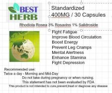 Buy Rhodiola Rosea 3% rosavins 1% Salidroside 90 Capsules Standardized 400MG