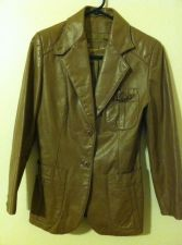 Buy Vintage70s Etienne Aigner Leather Western Coat Blazer Jacket Brown Womens Small