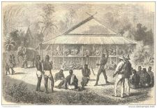 Buy LAOS - THE PUNISHMENT - engraving from 1870