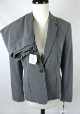 Buy Calvin Klein Suit M Womens Gray Rayon Blazer Jacket Pants