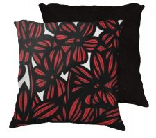Buy Peachay 18x18 Red White Black Pillow Flowers Floral Botanical Cover Cushion Case Thro