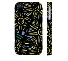 Buy Lucchese Yellow Blue Black Iphone 4/4S Apple Phone Case Flowers Botanical