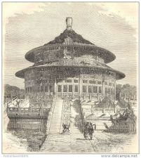 Buy CHINA - TEMPLE OF HEAVEN IN PEKIN - engraving from 1864