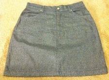 Buy Metallic Black Silver Womens Mini Skirt Size 30