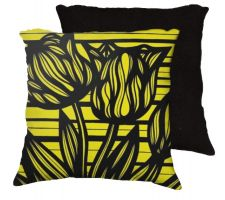Buy 22x22 Parthemore Yellow Black Pillow Flowers Floral Botanical Cover Cushion Case Thro