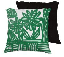 Buy Himmelwright 18x18 Green White Pillow Flowers Floral Botanical Cover Cushion Case Thr