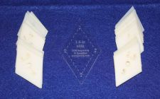"""Buy Mylar 1.5"""" Side Diamonds 51 Piece Set - Quilting / Sewing Templates -"""