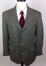 Buy Brook Brothers Blazer Mens 38 R Gray Wool Sport Coat Jacket