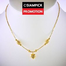 "Buy 18"" Dubai Bead Chain Necklace 22k 24k Thai Baht Yellow Gold GP Jewelry Real N066"