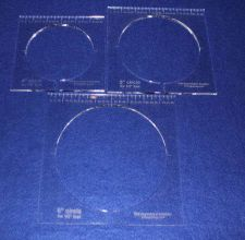 """Buy 3 Piece Inside Circle Set w/Rulers ~1/4"""" Thick - Long Arm- For 1/2"""" Foot"""