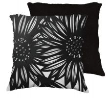 Buy 22x22 Ruple Black White Pillow Flowers Floral Botanical Cover Cushion Case Throw Pill