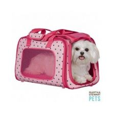 Buy Pet Carrier Pink Breathable W adjustable Collar Clips Mesh Windows Safe