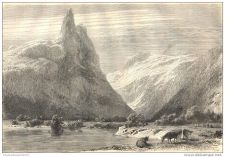 Buy NORWAY - ROMSDAL VALLEY - engraving from 1861