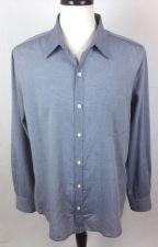 Buy Vince Shirt Mens XL Blue Cotton Long Sleeve