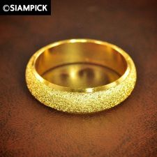 Buy 24k Plain Ring Wedding Engagement Thai Baht Yellow Gold GP Size 7.75 Jewelry ##2