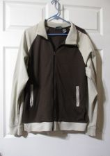 Buy (146) Mens COUNTER CULTURE Dark Brown w/ Light Accents Full Zip Jacket Sz XL